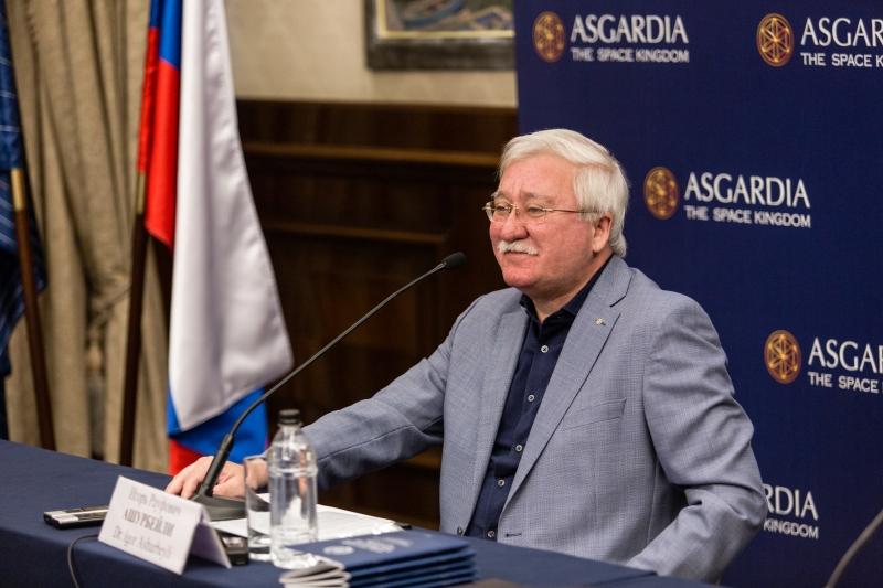 Игорь Ашурбейли на пресс-конференции в Москве, посвященной году становления Асгардии