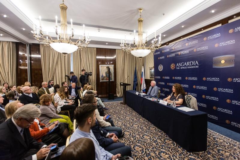 12 октября в Москве пришла пресс-конференция основателя Асгардии Игоря Ашурбейли