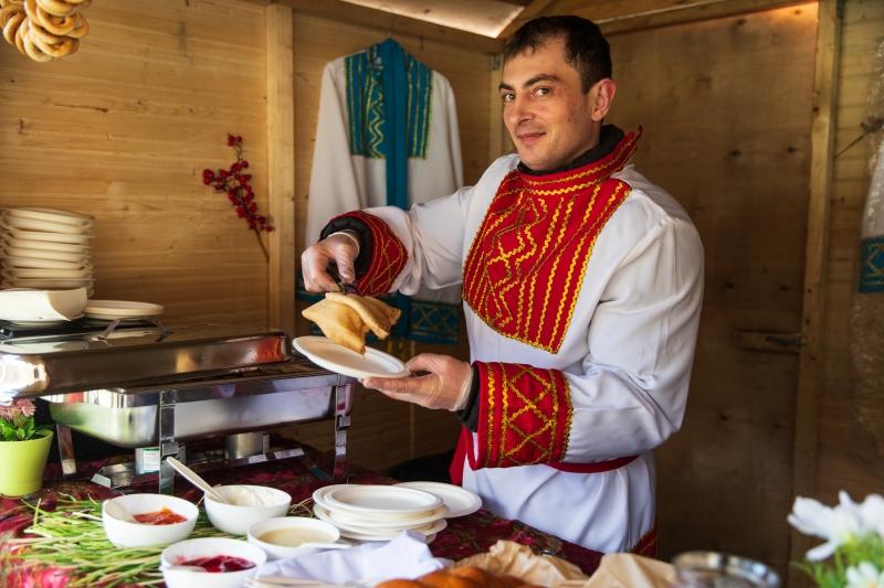 Праздник Масленицы в Покровском-Стрешневе на территории Обители святой Елисаветы